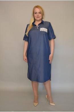 892. Платье из темно-синего Джинса
