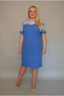 896. Платье из Льна и Штапеля