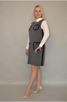 915. Сарафан из костюмной ткани делового стиля.