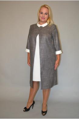 922. Платье из Костюмного меланжа и Крепа