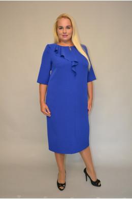 923. Платье из Костюмной ткани две расцветки: Василек и Зеленый