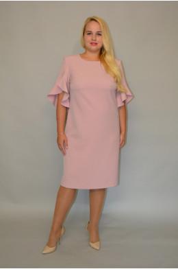 927. Платье из Крепа цвет Пудра