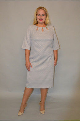 930. Платье из Жаккарда цвет Серый