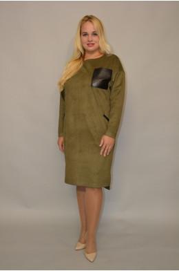 931. Платье из Замши цвет Хакки