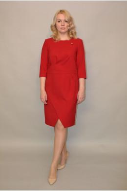 967. Платье из Костюмной ткани цвет Бордо