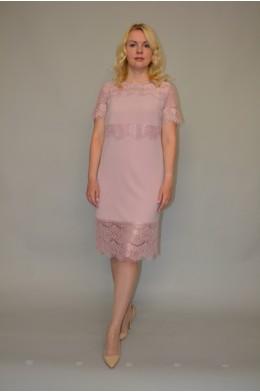 926. Платье из Гипюра и Крепа цвет Пудра
