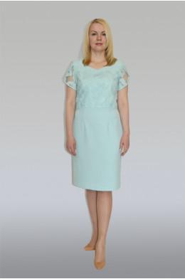 762. Платье из Крепа цвет Бирюза