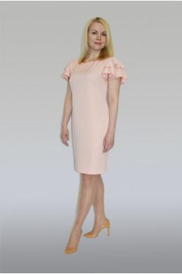 768. Платье из тонкой костюмной ткани цвет розовый