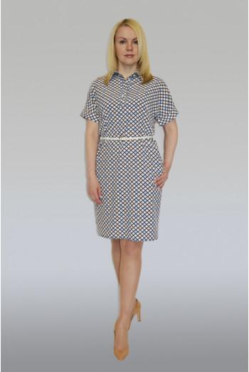769. Платье из Ниагара рисунок узорчатые ромбы