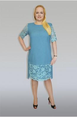 834. Платье из крепа с гипюром.