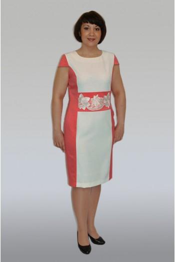 513. Платье комбинированное летнее
