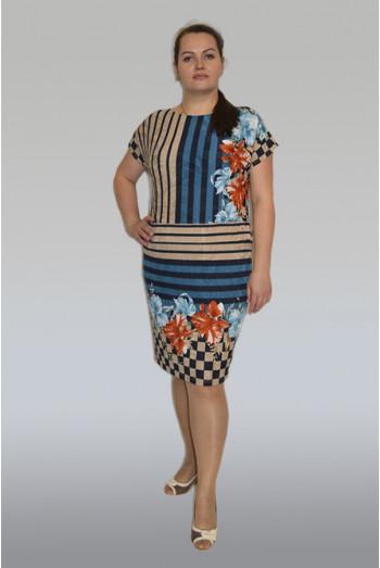 596. Платье с оригинальным принтом