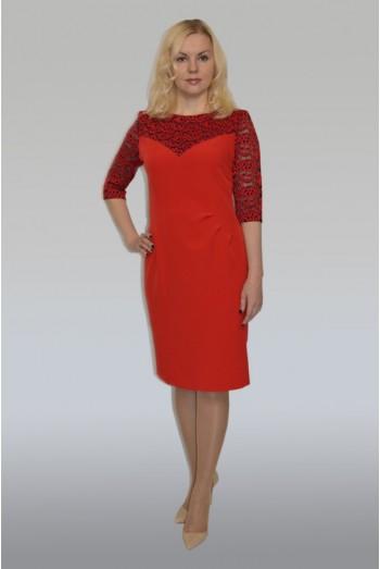 676. Нарядное платье из крепа и Гипюра