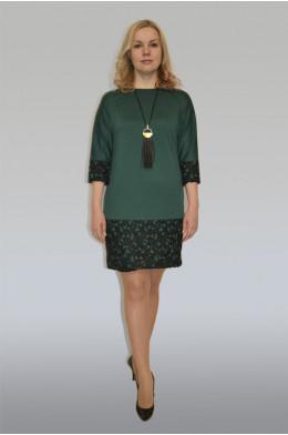 705. Платье из Трикотажа Милано цвет Зеленый