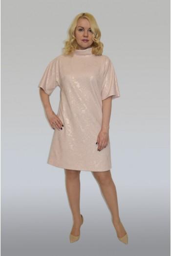 844. Платье из трикотажного жаккарда.