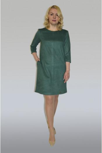 852. Платье из Замши цвет  Зелень