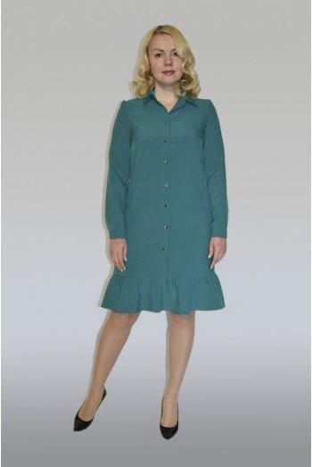 853. Платье из поливискозы цвет Изумруд