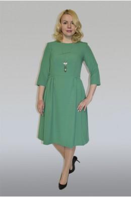 854. Платье из крепа цвет Зеленый