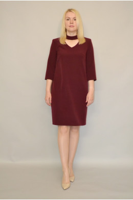 910. Платье из Крепа цвета Бордо