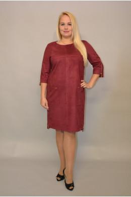 685. Платье из Замши цвет Бордо