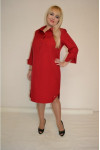 805. Платье из Костюмной ткани цвет Бордо