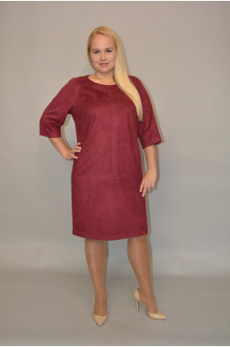 936. Платье из Замши цвет Бордо.
