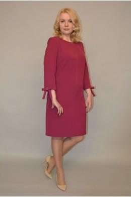 944. Платье из Крепа цвет малиновый