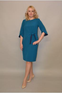 952. Платье из Поливискозы цвет Изумруд.