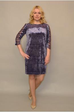 976. Платье из бархата цвет Сереневый