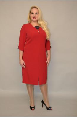 977. Платье из Крепа цвет Малина