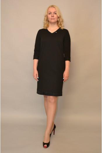 985. Черное Платье из Крепа
