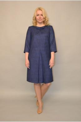 993. Платье из Костюмной ткани цвет Синий